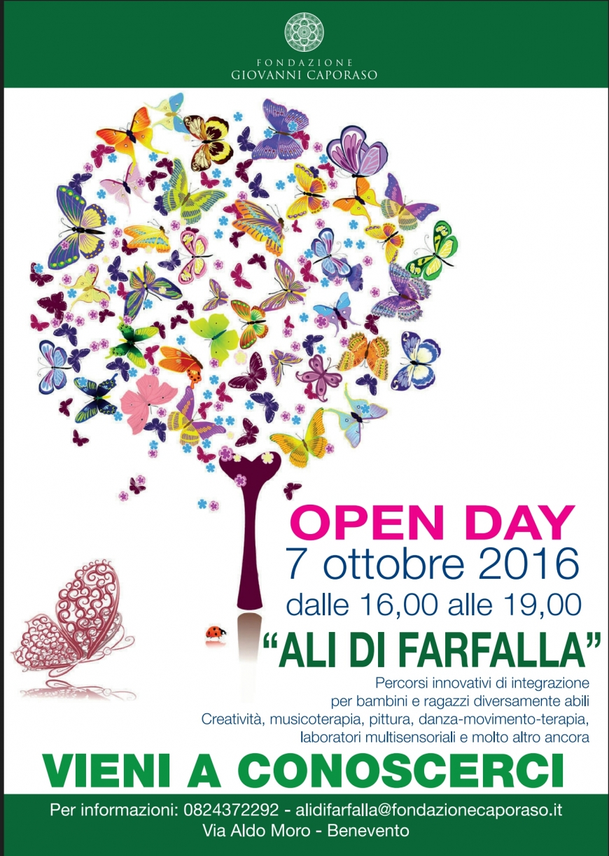 OPEN DAY ALI DI FARFALLA